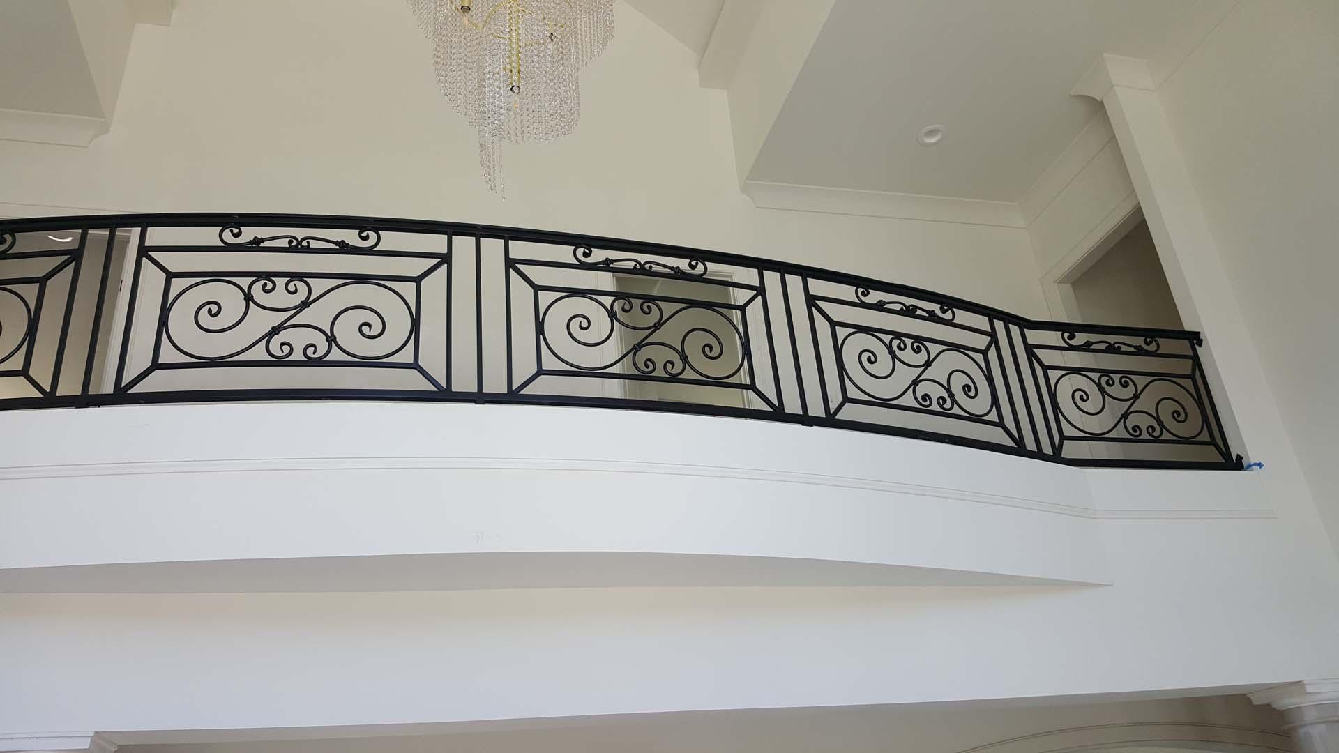 decorative interior railing